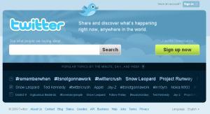 Halaman depan Twitter